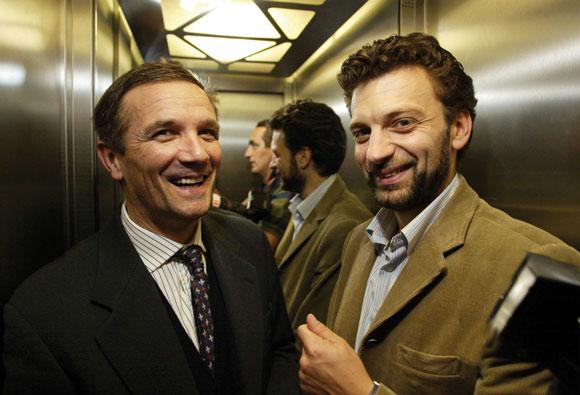 Con l'amico Gabriele Toccafondi, consigliere comunale in Palazzo Vecchio (New Press Photo Firenze).