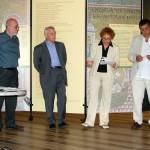 Bolzano, 13 giugno 2009 - inaugurazione della mostra. Da sin.: don Luigi Cassaro, Primo Shoensberg, Loretta Marini, Luigi Spagnolli
