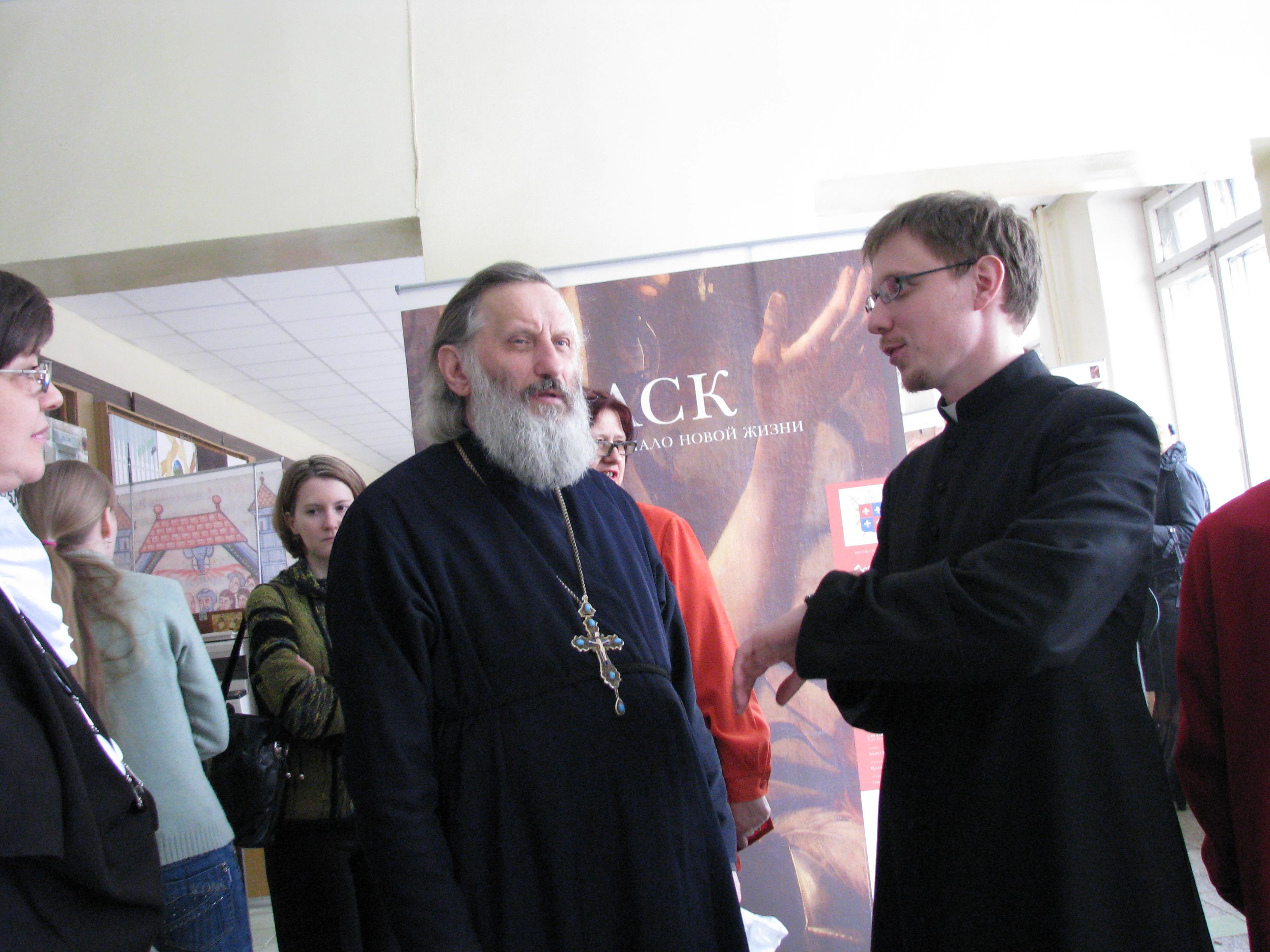 Nella foto: Padre Georgij Gorbaciuik, rettore del seminario ortodosso della diocesi di Vladimir