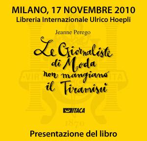 Presentazione del libro di Jeanne Perego a Milano