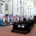 Imola - L'allestimento nella chiesa di Sant'Agostino