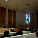 Olbia, Museo Archeologico, presentazione - Eugenio Dal Pane commenta i pannelli della mostra