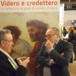 Sarzano di Rovigo - A destra Eugenio Dal Pane, ideatore e curatore della mostra