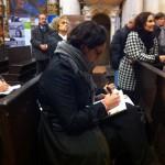 Imola, inaugurazione - Le future guide prendono appunti...