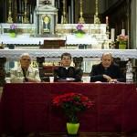 Firenze, Chiesa di San Giovannino degli Scolopi, inaugurazione - Da sinistra: l'avv. Mario Cioffi, S.Em. Card. Giuseppe Betori e mons. Andrea Bellandi