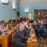 Benevento - La cerimonia d'inaugurazione nella sala consiliare della Rocca dei Rettori