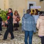 Benevento, inaugurazione - Il cortile della Rocca dei Rettori, sede della mostra