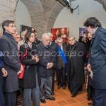 """Benevento, inaugurazione - La prima visita, guidata da Paolo Palumbo, presidente dell'Associazione """"La Conchiglia"""""""