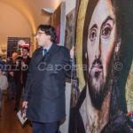 Benevento, inaugurazione - Paolo Palumbo spiega l'ultimo pannello