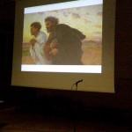 Melzo (MI) - Presentazione: Sandro Chierici inizia il commento alle immagini della mostra