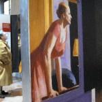 Legnano - Una bella inquadratura del pannello con l'immagine di Edward Hopper
