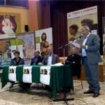 Bellizzi (SA), presentazione - Da sinistra: Teresina Granese, assessore, Vitaliano Sena, Giuseppe Salvioli, sindaco di Bellizzi, don Antonio Piccirillo, Sabatino Cioffi