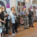 Russi (RA), inaugurazione - Pier Giorgio Bentini illustra il percorso espositivo