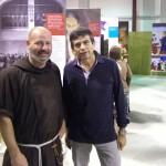 Milano, Centro Rosetum - Padre Marco Finco, direttore del Centro Culturale Rosetum, e l'on. Maurizio Lupi in visita alla mostra