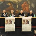 Salerno, presentazione - I relatori: da sinistra Aniello Landi, Eugenio Mazzarella, mons. Marcello De Maio, Sandro Chierici