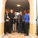 Frosinone, taglio del nastro - Da sinistra: S.E. Mons. Ambrogio Spreafico, il sindaco Nicola Ottaviani, Mons. Luigi Di Massa, don Mario Follega