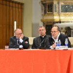 Livorno - L'incontro di presentazione. Da sinistra: Eugenio Dal Pane, e S.E. Mons. Simone Giusti, Vescovo di Livorno
