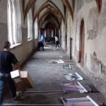 Bolzano - Il montaggio della mostra