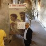 """Bolzano - Il primo visitatore: Felix Resch, direttore del conservatorio """"C. Monteverdi"""" che ha sede nell'edificio del convento dei Domenicani"""