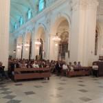 Centuripe (EN), inaugurazione - Il saluto del vescovo di Nicosia, mons. Salvatore Muratore