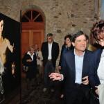 Settimo San Pietro - In primo piano il sindaco Costantino Palmas e la prof.ssa Alessandra Pasolini