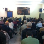 Milano, Parrocchia S. Ignazio di Loyola - L'incontro di apertura della mostra con don Francesco Braschi