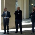 Seveso, inaugurazione - Il saluto di Sabino Illuzzi. Alla sua destra don Flavio Riva e don Alberto Lolli